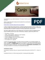 Canjo Embertone Manual