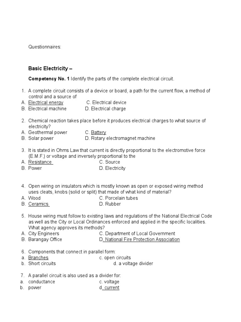 Prime Electricity Questionnaire Series And Parallel Circuits 144 Views Wiring Digital Resources Funapmognl