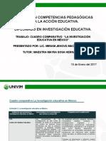 MACIAS Miriam. Cuadro Comparativo El Desarrollo de La Investigación Educativa en México
