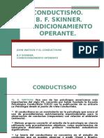 Conductismo, Condicionamiento Operante Resumido (1)
