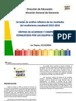 Síntesis de Acuerdos y Compromisos Establecidos Por Los Equipos Directivos (1)