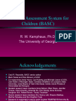 Behavior Assessment System for Children Basc