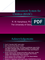 Behavior Assessment System for Children Basc