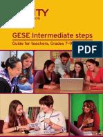 GESE Intermediate Steps - Guide for Teachers, Grades 7-9