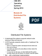 18-distributed file systems Study on Operating Systems অপারেটিং সিস্টেম