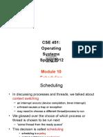 Scheduling Study on Operating Systems অপারেটিং সিস্টেম