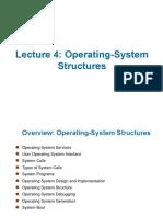 4 OS Structures Study on Operating Systems অপারেটিং সিস্টেম