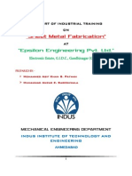 Report on Sheet metal fabrication