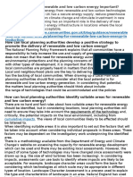 Renewable Energy Planning for Human Settlements
