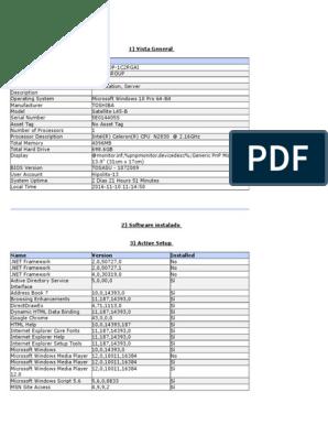 Desktop auditoría de software   Installation (Computer Programs