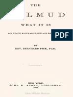 Bernhard Pick, Talmud and Jesus in the Talmud