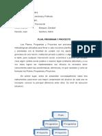plan, programa y proyecto