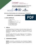Sílabo Planeamiento Empresarial - 2013 - i - II