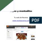 Tapas y Montaditos Recetaycocina