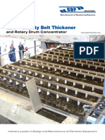 GBT Gravity Belt Thickener and Rotary Drum Concentrator Brochure - BDP Industries