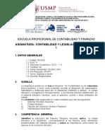 SÍLABO CONTABILIDAD Y LEGISLACIÓN TRIBUTARIA I - 2013 - I - II.doc