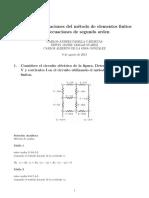 Ejemplos de Aplicaciones Segundo Orden por método de elementos finitos
