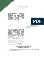 "Efren Morillo v Philippine National Police (PNP) and PDG Ronald ""Bato"" Dela Rosa, Petition for Writ of Amparo (2017 01 26)"