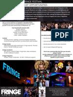 HFF Sponsorship One Sheet