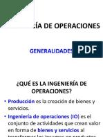 0.1 Introducción a La Ingeniería de Operaciones