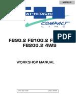 Fiat Hitachi Fb90 2 Fb100 2 Fb110 2 Fb200 2 Service Manual