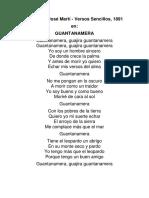 Poesía de José Martí