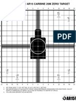 Improved m4 Ar15 Carbine Zero Target