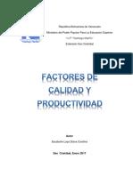 Factores de Calidad y Productividad..DIANA