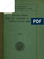 (1915) Specifications for the Uniform of the United States Army
