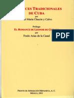 Romances Tradicionales de Cuba Por José María Chacón y Calvo