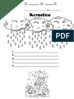 Acróstico Chuva