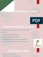 Event Handling in AEM 6