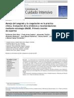 Manejo Del Sangrado y La Coagulación en La Práctica Clínica. Evaluación de La Evidencia y Recomendaciones Mediante Estrategia GRADE. Primera Reunión de Expertos