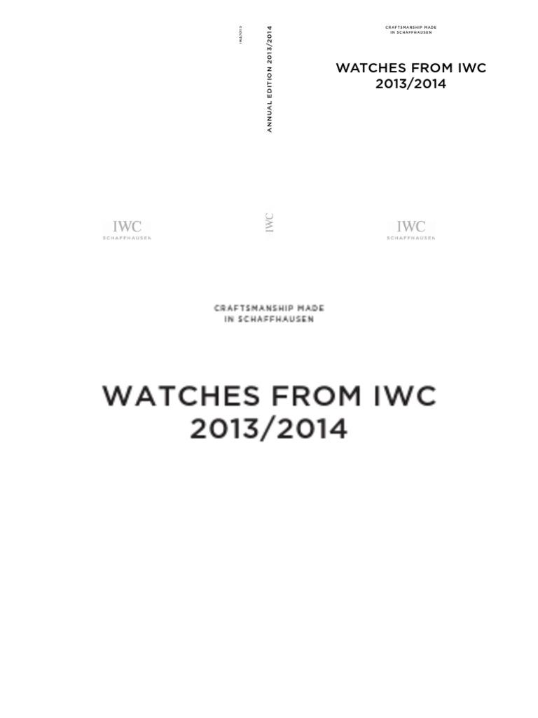 IWC Catalogue 2013 - 2014  580f21fd5a