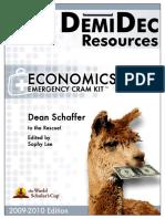 Economics Cram Kit