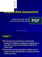 Hospital Risk Assessment q We