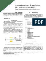 Movimiento en Dos Dimensiones de Una Antena Parabólica Utilizando Control PID