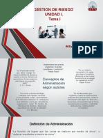 Presentacion Gestion del Riesgo. Unidad I.pptx