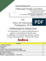 Plano de Intervenção Pedagógica 2014