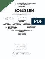 A Chorus Line (Vocal Score)