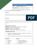 Formal Assessment Lesson Plan