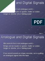 Analogue and Digital Signals