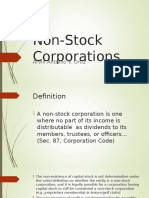 Non Stock Corporations