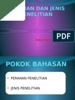 52065477-PERANAN-DAN-JENIS-PENELITIAN.pptx
