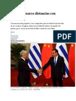 Uruguay Marca Distancias Con Mercosur