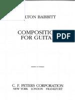 Babbitt - Composition for Guitar