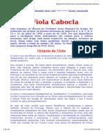 Historia Da Viola e Afinacoes
