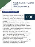 Manual Camara Deportiva HI73G