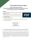 Panorama Actual Del Derecho Colectivo Del Trabajo
