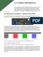 Camera Metering & Exposure